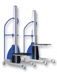 Carucior ergonomic semi-electric din aluminiu 1.735 mm - Transpalete si carucioare speciale