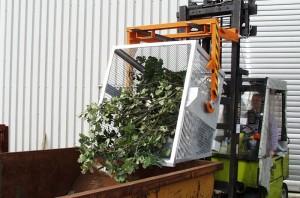 Container basculant cu zabrele TIP BSK-G 90 - Containere de maruntisuri