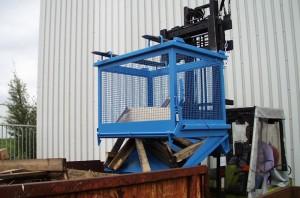 Container basculant cu zabrele TIP SB-G 1000 - Containere de maruntisuri