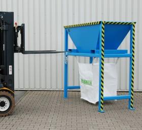 Dispozitiv pentru descarcarea materialelor solide vrac - TIP BTS - Containere de constructii