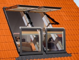 Fereastra balcon pentru mansarda -  FGH-V P2 Galeria - Ferestre de speciale - Balcon si acoperis tip terasa DEF