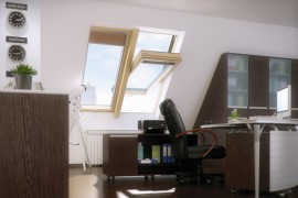 Fereastra de mansarda cu articulare mediana - supertermoizolatoare - FTT U8 - Ferestre de speciale - Balcon si acoperis tip terasa DEF