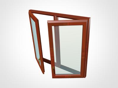 Fereastra cu 2 canate cu montant intermediar - Alcatuiri ferestre
