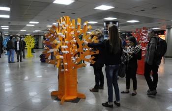 2013, Anul European al Cetateanului.Eveniment intreractiv in pasajul metroului de la Universitate - 2013, Anul European al Cetateanului.Eveniment intreractiv in pasajul metroului de la Universitate