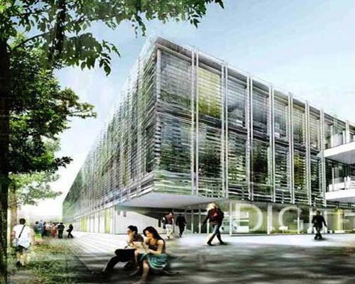 Centru de Cercetare - Digiteo Labs - Saclay - Franta - Plansee usoare casetate din beton