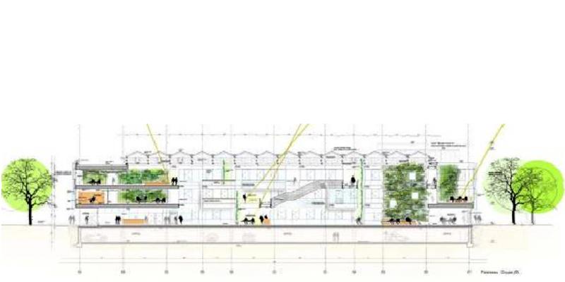Plan - Centru de Cercetare - Digiteo Labs - Saclay - Franta - Constructia noului Centru
