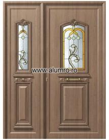 Usa din aluminiu pentru exterior - P115-P110 Vitro Brown - Paneluri din aluminiu pentru usi de exterior - P100