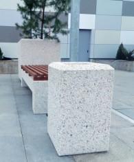 Cos de gunoi si banca din beton - Produse prefabricate din beton