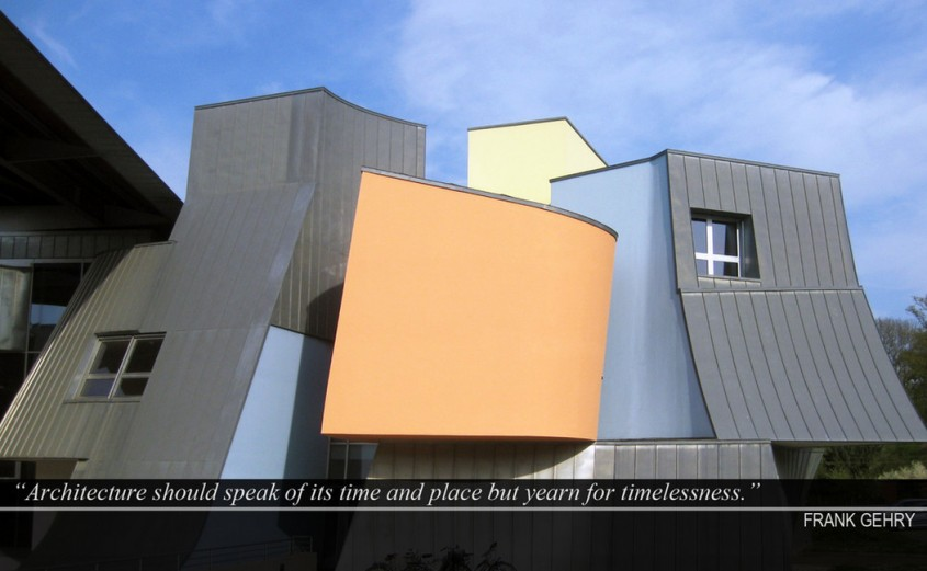 """Arhitectura ar trebui sa isi reprezinte vremurile si locul dar sa dureze pentru vesnicie "" -"