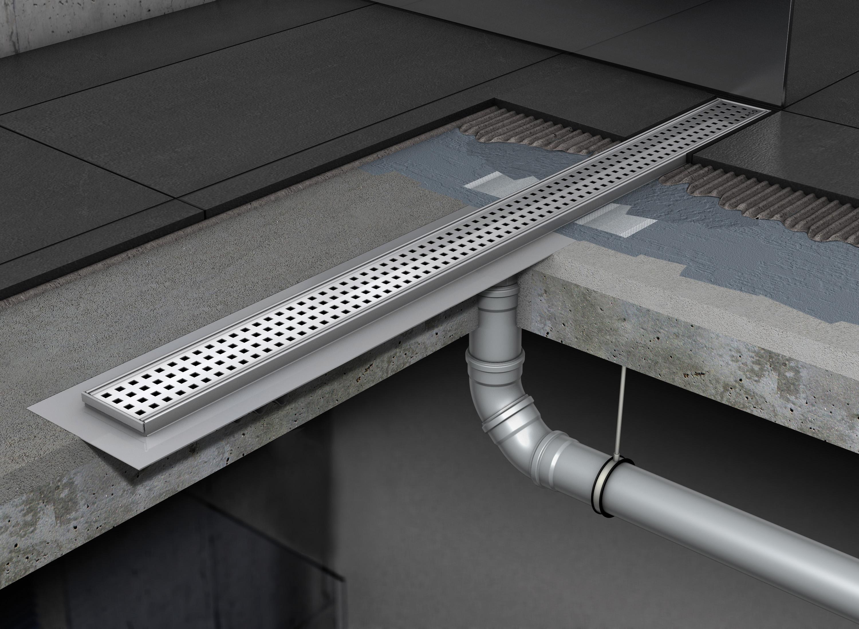 Rigole de dus din inox ACO Shower Drain cu flansa fara sifon - Instalarea rigolelor si a sistemului Walk In