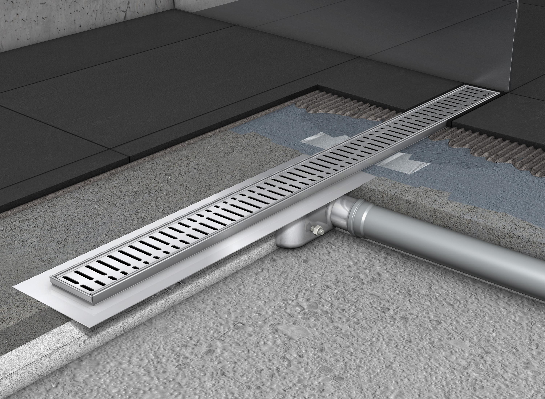 Rigole de dus din inox ACO Shower Drain cu flansa orizontala - Instalarea rigolelor si a sistemului Walk In