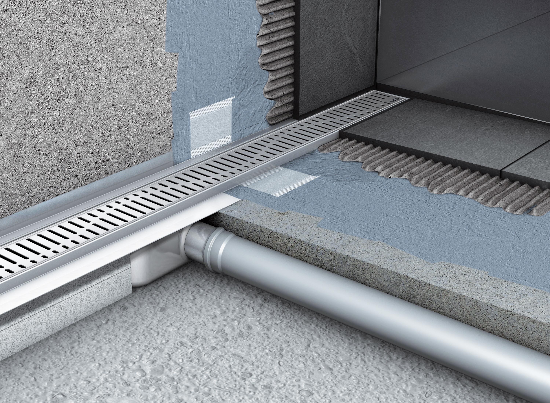 Rigole de dus din inox ACO Shower Drain cu flansa verticala - Instalarea rigolelor si a sistemului Walk In