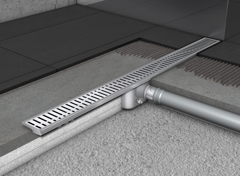 Rigole de dus din inox ACO Shower Drain fara flansa - Instalarea rigolelor si a sistemului Walk In
