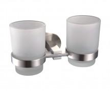 Suport dublu de pahar - 5368C - Accesorii de baie din alama cromata - Seria MELANIE