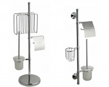Suporti ziare, perie WC si port hartie igienica - F120 si F122 - Accesorii pentru baie - SANOTECHNIK