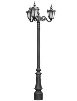 Stalp ornamentali pentru iluminat City 3FS - Stalpi ornamentali pentru iluminat stradal