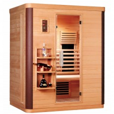 Sauna cu rezistente Carbon-Magneziu DIAMANT 3 - D50570 - Saune din brad canadian cu rezistente Carbon-Magneziu - SANOTECHNIK