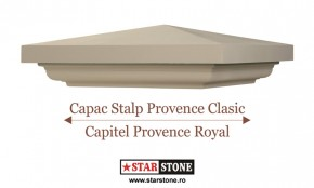 Capac pentru stalp de gard - Provence Clasic si Capitel Provence Royal - Capace pentru stalpi de gard