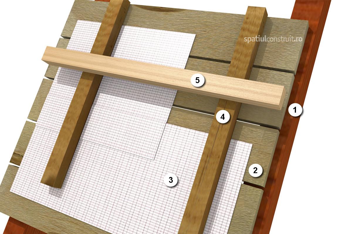 Folie anticondens - montaj la acoperis cu astereala - Folie anticondens - montaj la acoperis cu