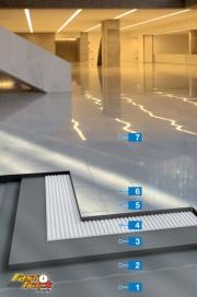 Sistem rapid pentru montajul plăcilor din piatră naturală care se pot păta de la umiditate