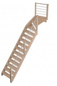 Scara pe structura din lemn Savoie