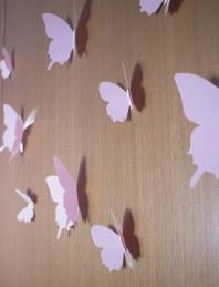 Fluturi 3D Roz - WALPLUS