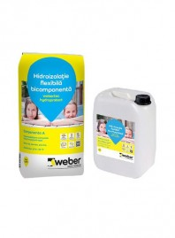 Hidroizolatie bicomponenta flexibila webertec hydroprotect