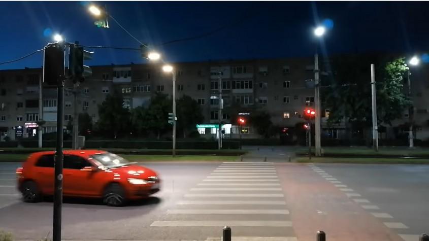 Corp de iluminat stradal pentru treceri de pietoni