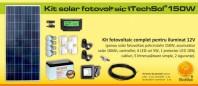 Kit (sistem) solar fotovoltaic ITechSol® 150W - KIT150WM12V