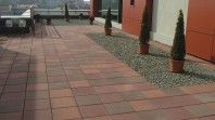 Rettango - Dale cu suprafata din beton aparent