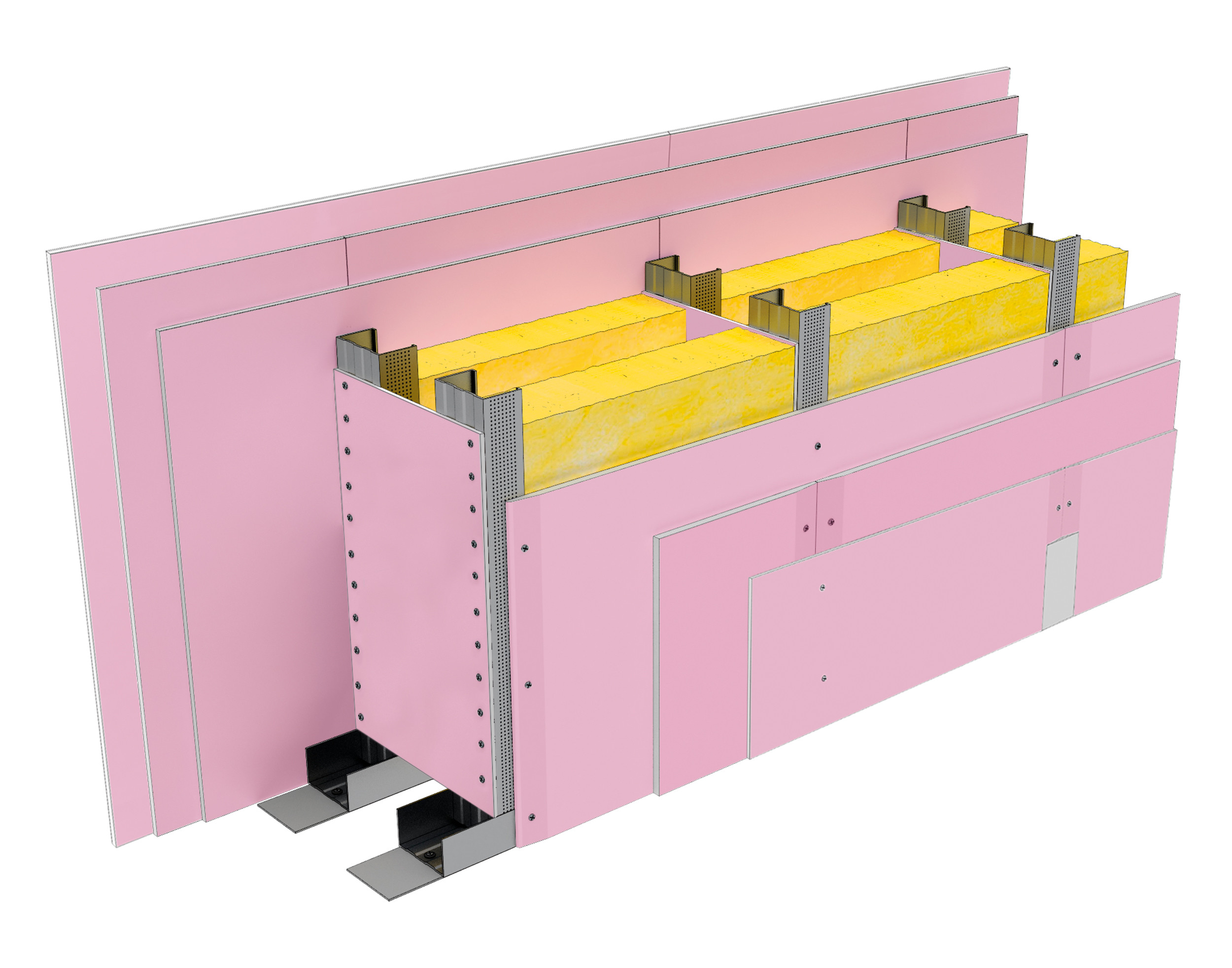 Perete SL300, CW75@60, 2x3 FLAM PLUS 12.5 + MW