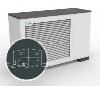 Pompa de căldură aerotermală - ECOAir Compact WPLC 2-17 kW