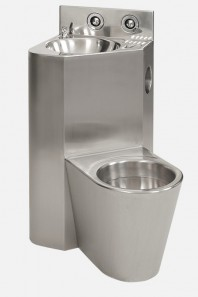 Combinatie de lavoar si vas WC din otel inox - SLWN 08ZL