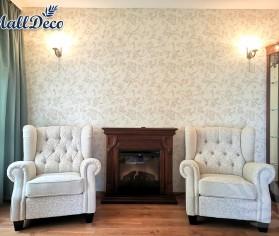Amenajare interioară cu tapet rezistent la umiditate, pentru o locuință din București