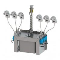 Baterie si dozator de sapun lichid cu rezervor comun 24 V DC - SLU 45M2 / M6