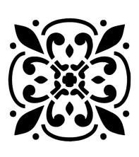 Sablon decorativ Fleur, reutilizabil