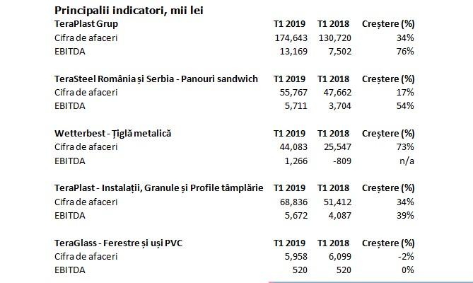 Profitabilitatea Grupului TeraPlast crește cu 76% în primul trimestru