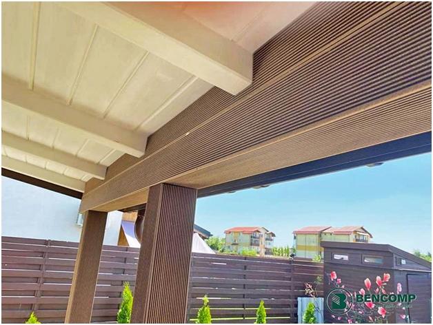 Placare grinzi orizontale si verticale cu profile WPC Bencomp