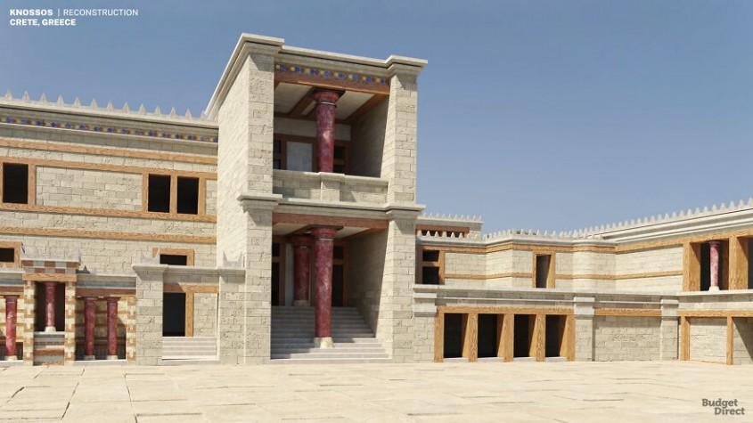 Palatul din Knossos, Grecia