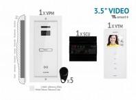 Kit video SMART+ 3,5'', panou incastrat -  VKM.P1FR.T3S4.ELW04