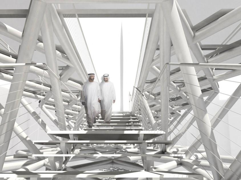 Un pod în care tradiţia se îmbină cu modernitatea construit lângă cea mai înaltă clădire din