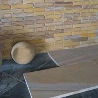 Sandstone Rainbow Fileti Antichizat 4 x 20 x 1 cm PIATRAONLINE  PND-674