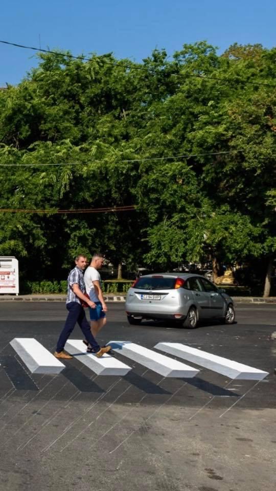 Prima trecere de pietoni 3D din Cluj-Napoca