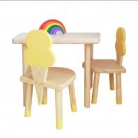 Set scaune INGHEȚATĂ TADALAH și măsuța - Galben