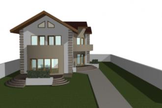 Proiect de casa P+1E - 200 mp