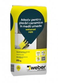 Adeziv pentru placari ceramice in medii umede - weberset H20