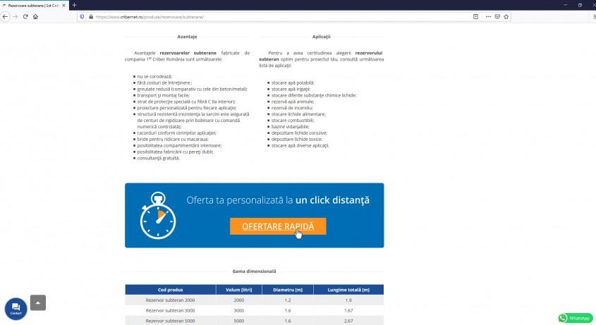 Testează ofertarea rapidă din website-ul 1st Criber