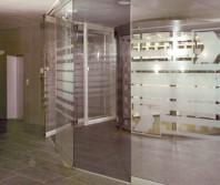 Pereti mobili transparenti, din cristal, cu glisare pe orizontala AUTOMATIC