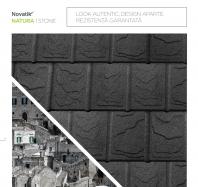 Țigle metalice cu acoperire de rocă vulcanică Novatik NATURA | STONE