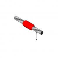 Conexiune sudata exotermic intre doua conductoare cupru in linie